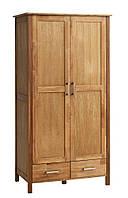 Шкаф 2-х дверный + 2 ящика (цвет дуб) 97х61 см, вис. 190 см, фото 1