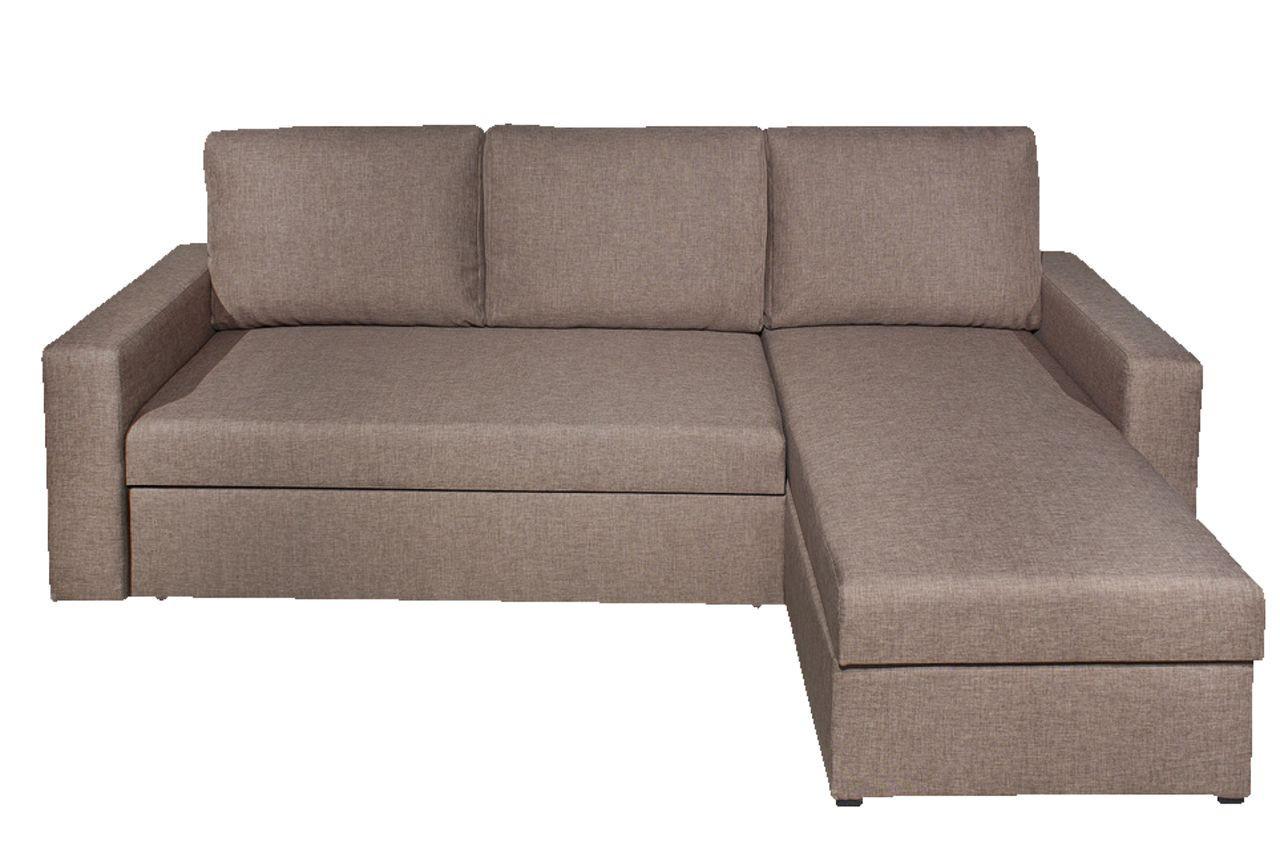Кровать диван 3-х месный угловой коричневая ткань164/92х226 см,, фото 1