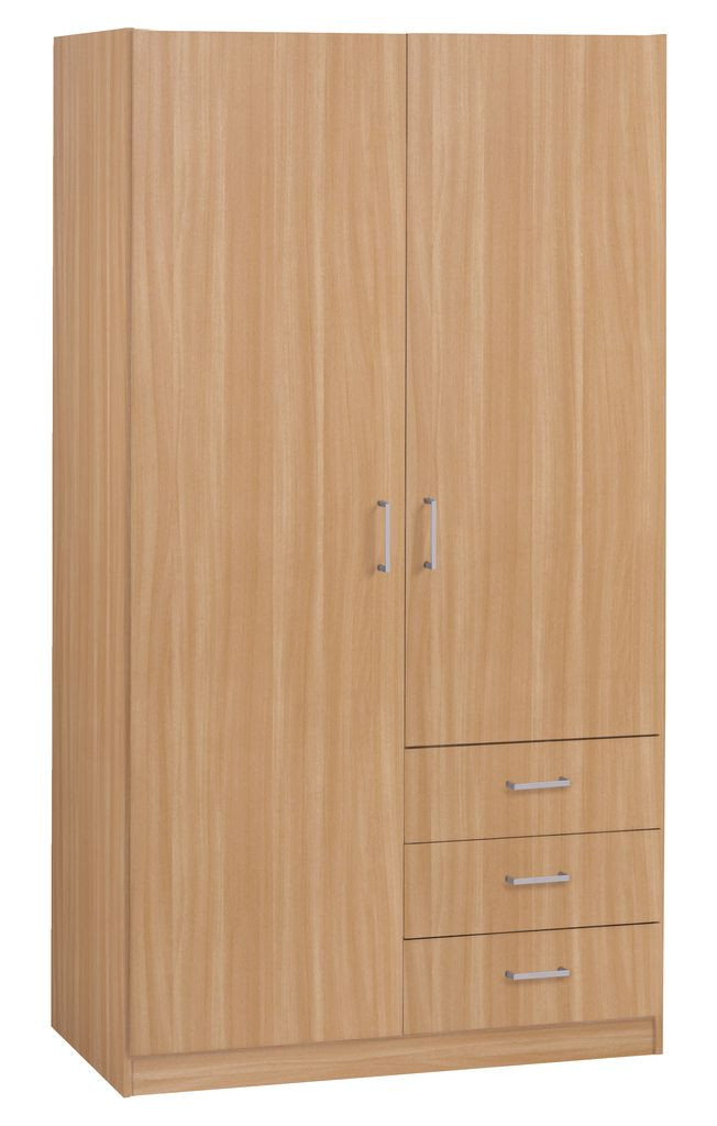 Деревянный шкаф бук (2 двери + 3 ящика)
