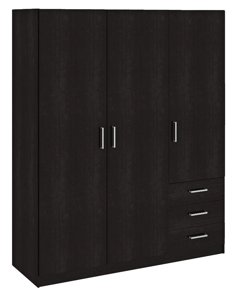 Деревянный 3- х дверный шкаф  венге