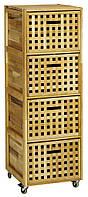 Комод  из масива тополя с 4-мя выдвижными ящиками, цвет коричневый, фото 1