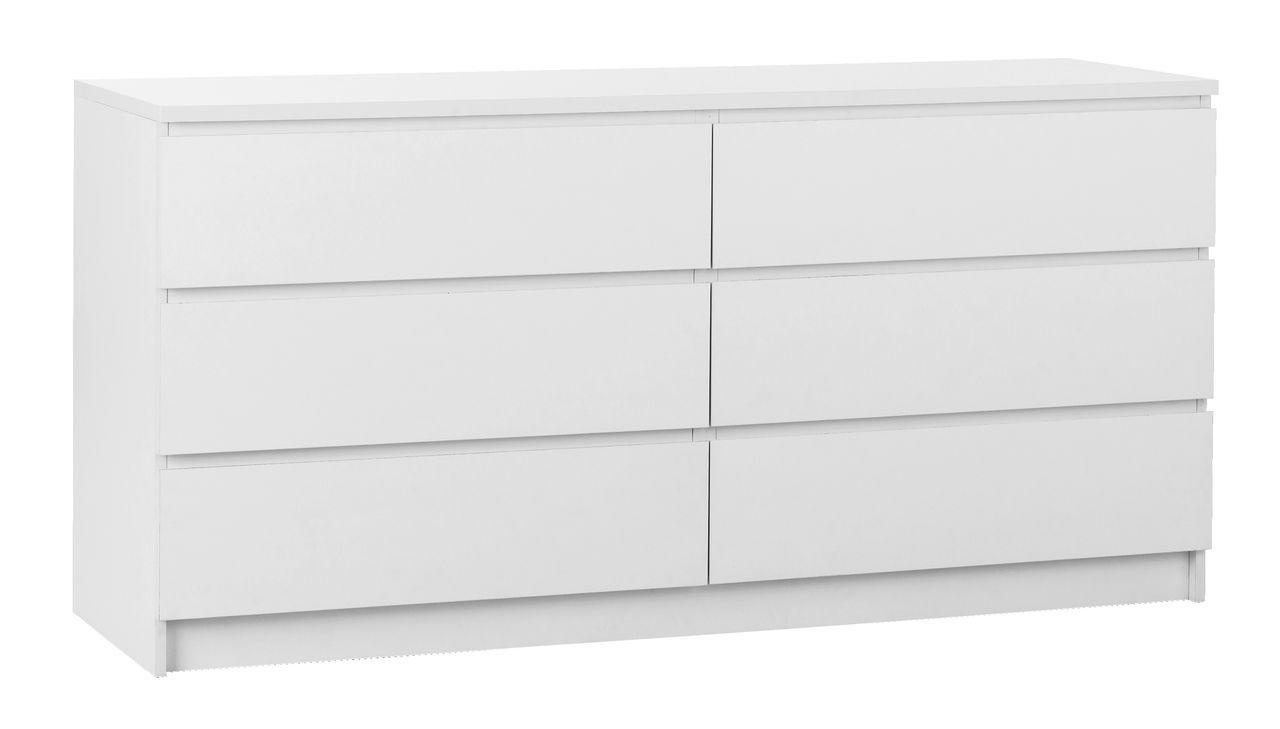 Комод с 3+3 выдвижными ящиками, 160х48см, белый, фото 1
