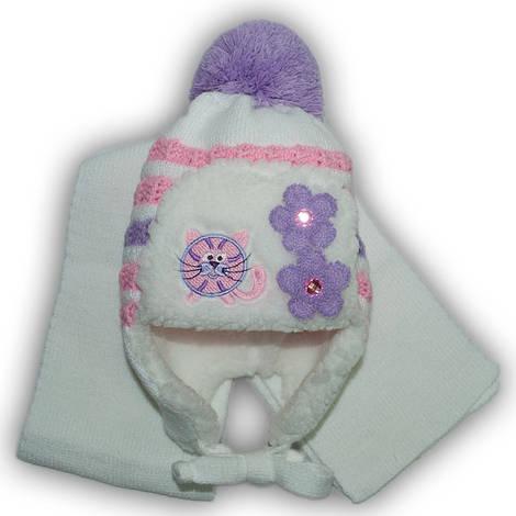 Комплект (шапка + шарф) Польского производителя Amala, модель AML 01