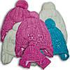 Комплект (шапка + шарф) для девочек,на флисе , Польского производителя Amala, модель AML 1214