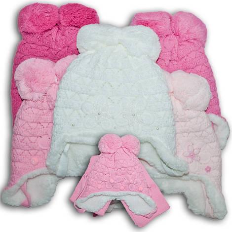 Комплект (шапка + шарф) для девочек, Польского производителя Amala, модель AML 38/MEX