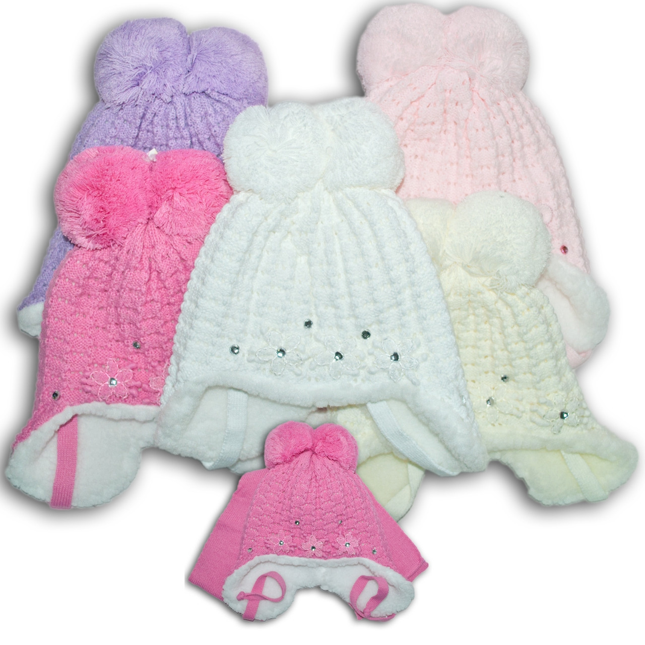 Комплект (шапка + шарф) для девочек, Польского производителя Amala, модель AML 47/MEX