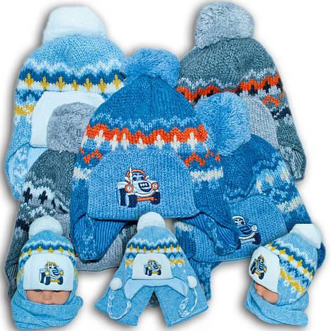 Комплект (шапка + шарф) для мальчиков, Польского производителя Amala, модель AML 8