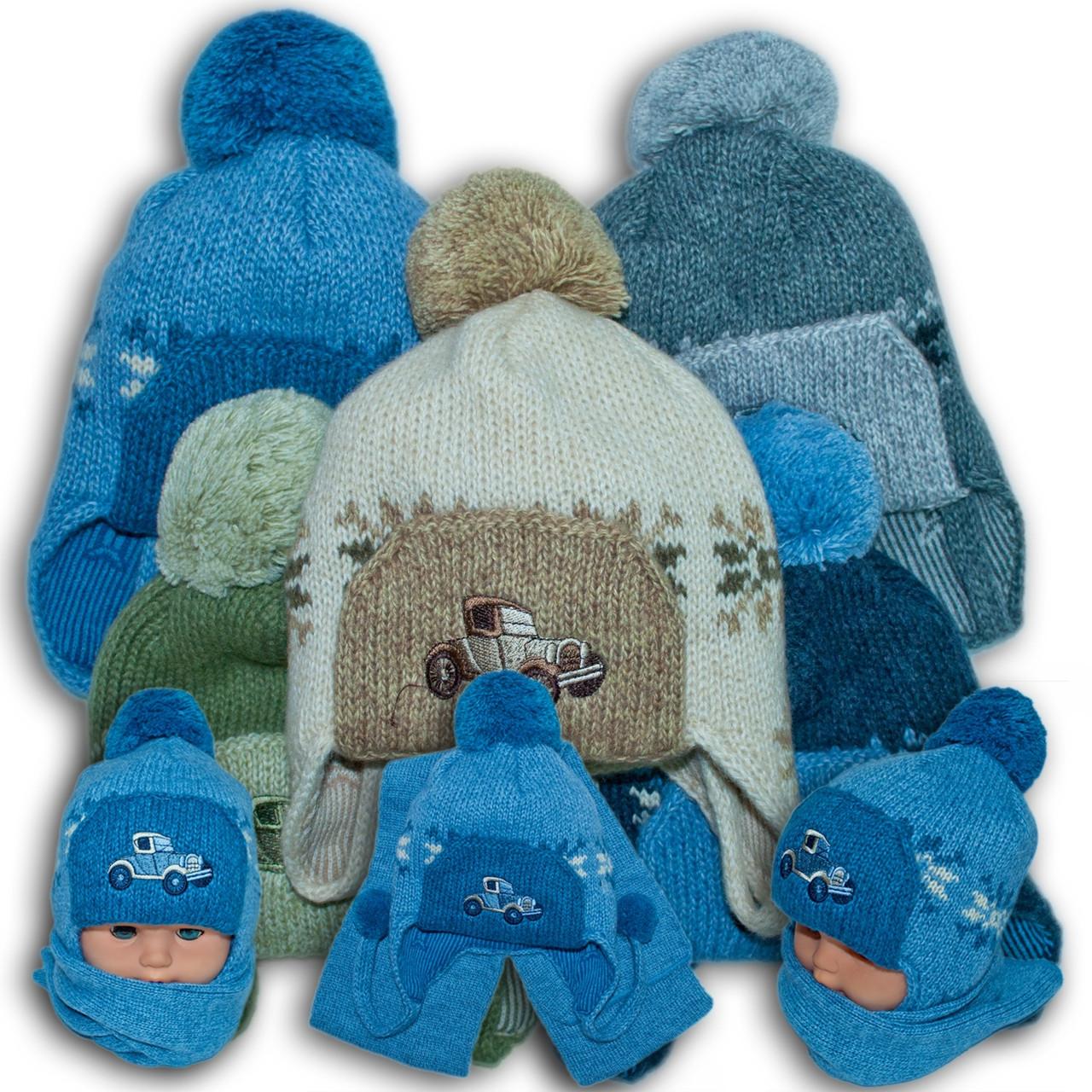 ОПТ Комплект (шапка + шарф) для мальчиков, Польского производителя Amala, модель AML 9 (5шт/набор)