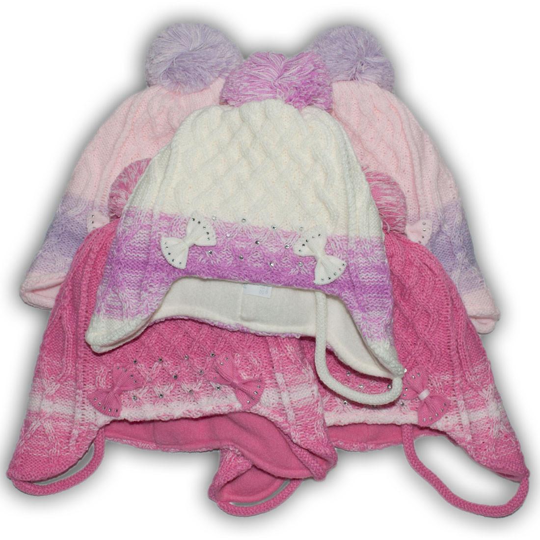 Комплект (шапка + шарф) Польского производителя Ambra с подкладкой флис, модель E4