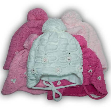 Комплект (шапка + шарф) Польского производителя Ambra с подкладкой флис, модель E6