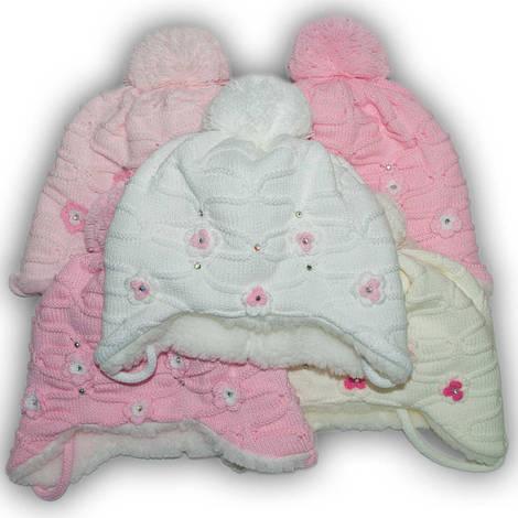 Комплект (шапка + шарф) Польского производителя Ambra с подкладкой искуственный мех, модель E6/МЕХ