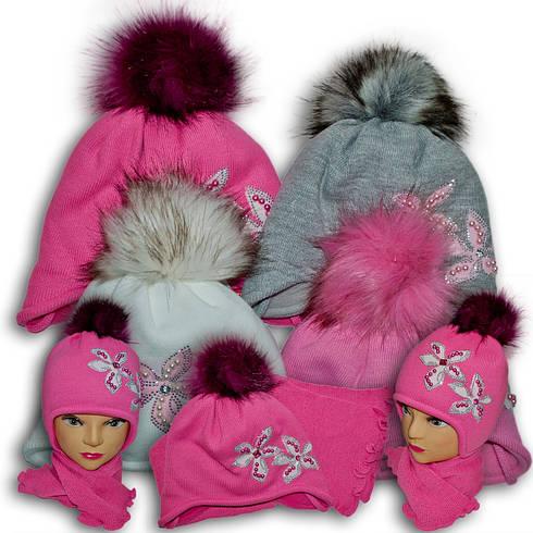 Комплект (шапка + шарф) Польского производителя Ambra с подкладкой ISO SOFT, модель F87/ISO