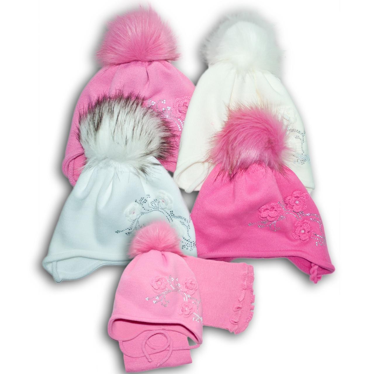 Комплект (шапка + шарф) Польского производителя Ambra с подкладкой флис, модель F90/POL