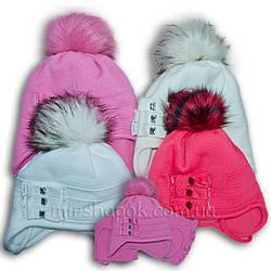 Комплект (шапка + шарф) Польского производителя Ambra с подкладкой ISO SOFT, модель F96/ISO