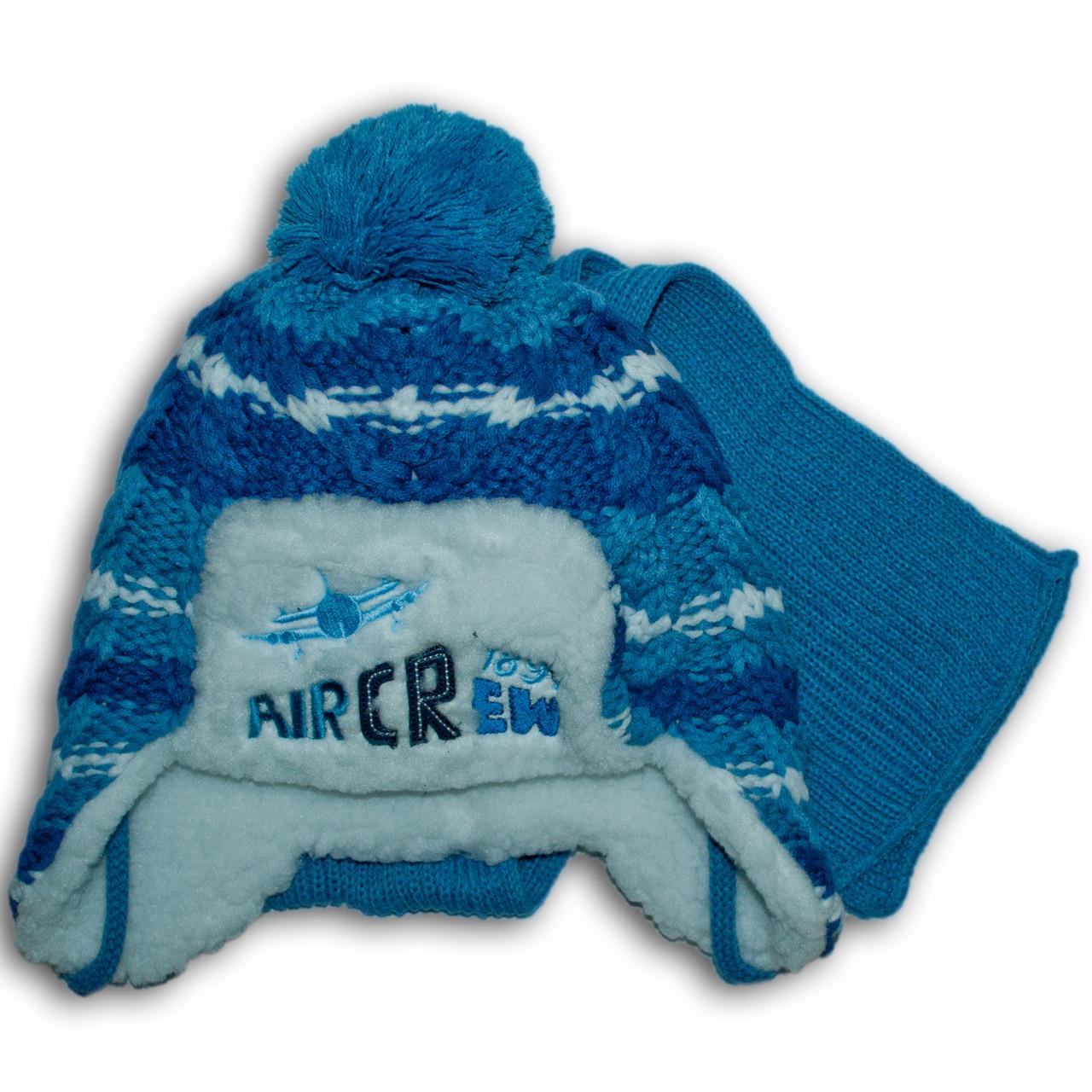 Комплект (шапка + шарф) Польского производителя Ambra с подкладкой искуственный мех, модель H110/МЕХ