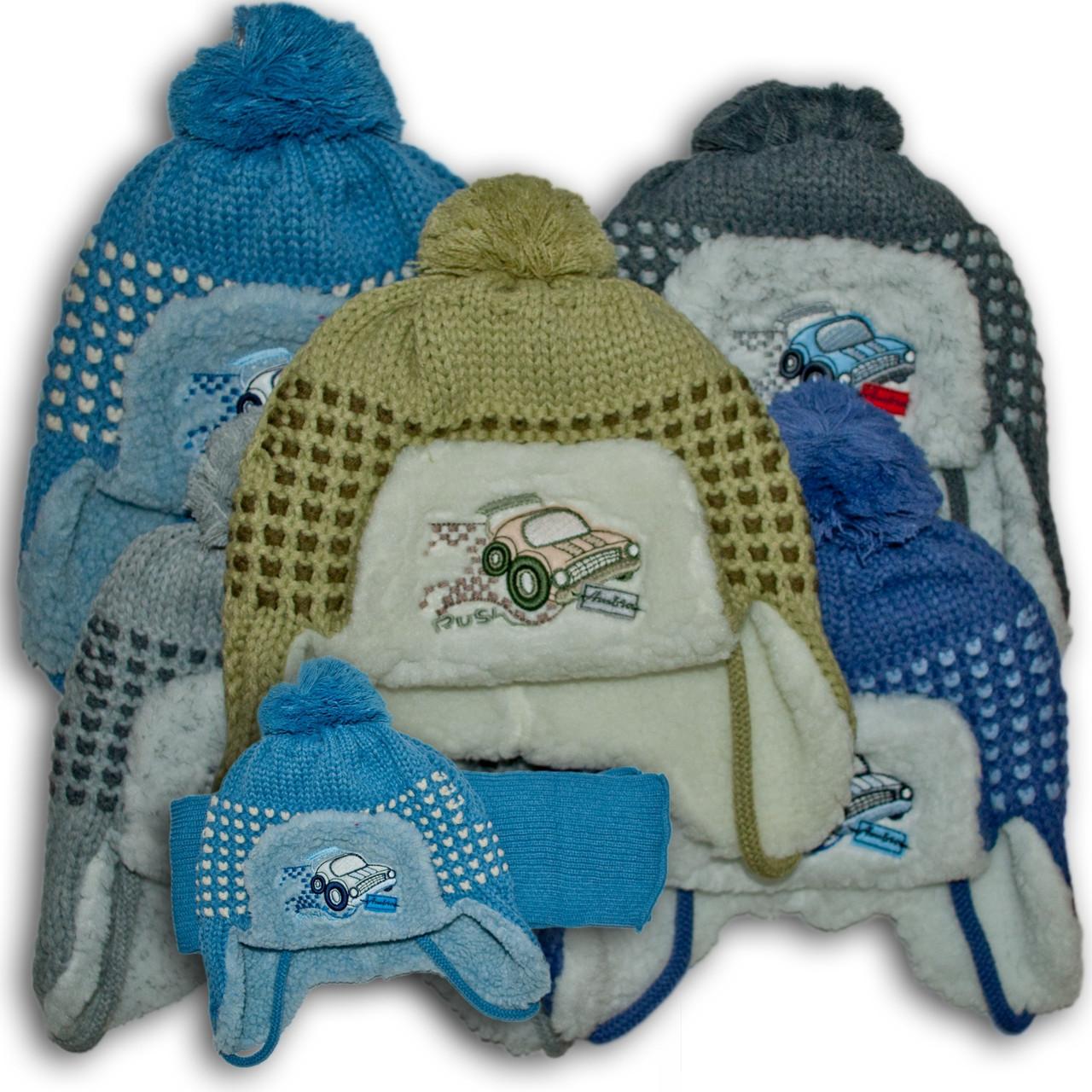 Комплект (шапка + шарф) Польского производителя Ambra с подкладкой искуственный мех, модель H103/МЕХ