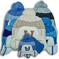 Комплект (шапка + шарф) Польского производителя Ambra с подкладкой искуственный мех, модель H107/МЕХ