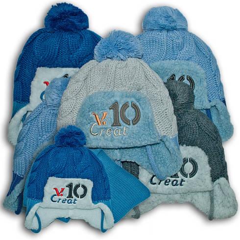 Комплект (шапка + шарф) Польского производителя Ambra с подкладкой искуственный мех, модель H108/МЕХ