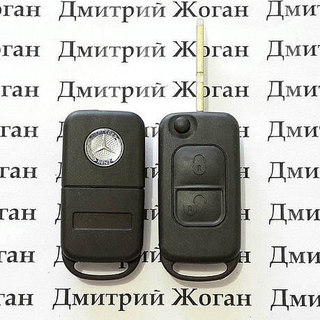 Корпус выкидного авто ключа для MERCEDES SL, G-class (мерседес) 2 - кнопки, лезвие HU39, фото 2
