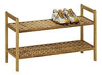 Полка для обуви, масив тополя,  69х26 см, вис. 40 см