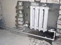 Установка радиаторов отопления (чугун)