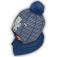 Комплект (шапка + шарф) Польского производителя Ambra с подкладкой флис, модель H33