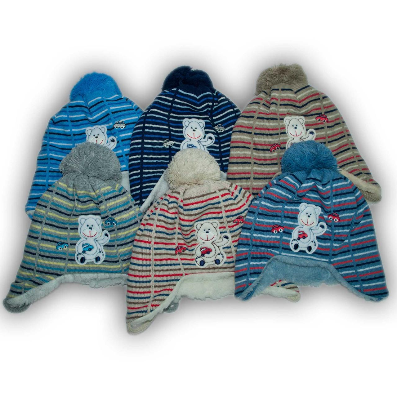 Комплект (шапка + шарф) Польского производителя Ambra с подкладкой искуственный мех, модель H33/МЕХ