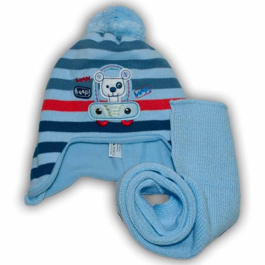 Комплект (шапка + шарф) Польского производителя Ambra с подкладкой флис, модель H34