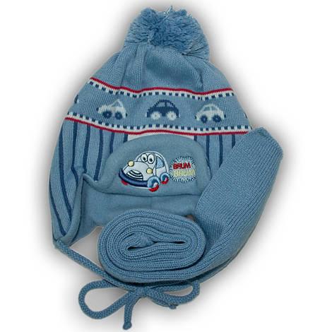 Комплект (шапка + шарф) Польского производителя Ambra с подкладкой флис, модель H35