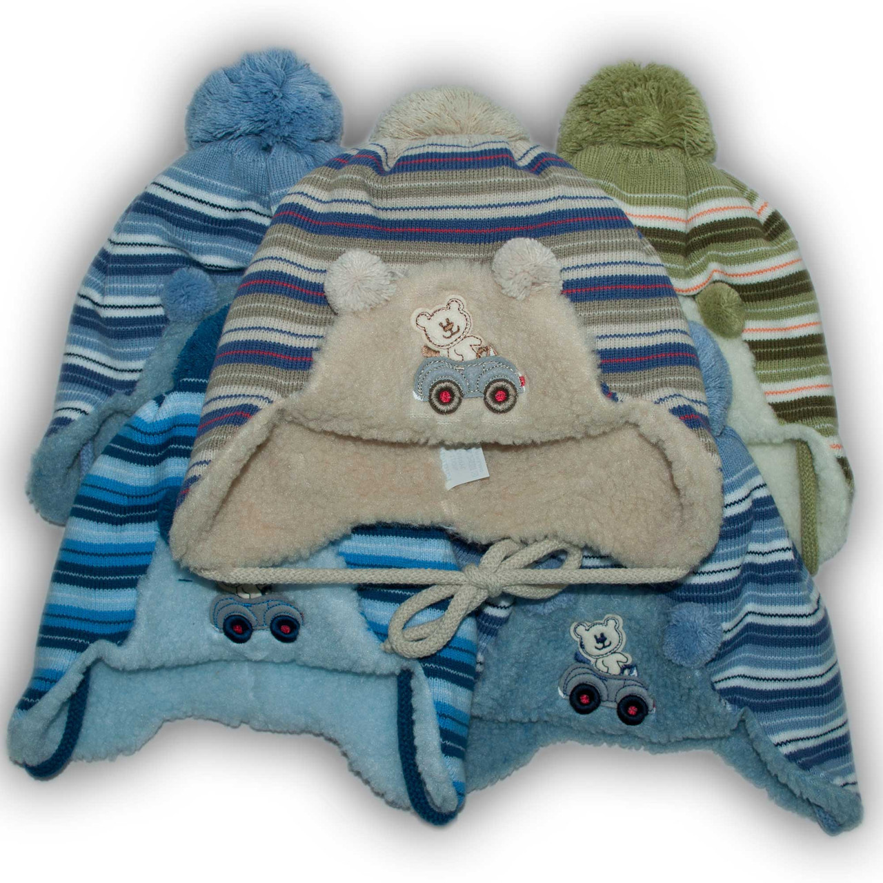 Комплект (шапка + шарф) Польского производителя Ambra с подкладкой искуственный мех, модель H48/МЕХ