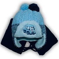 Комплект (шапка + шарф) Польского производителя Ambra с подкладкой искуственный мех, модель H54/МЕХ