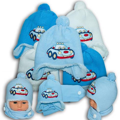 Комплект (шапка + шарф) для мальчика, Польского производителя Paola, модель PL 1