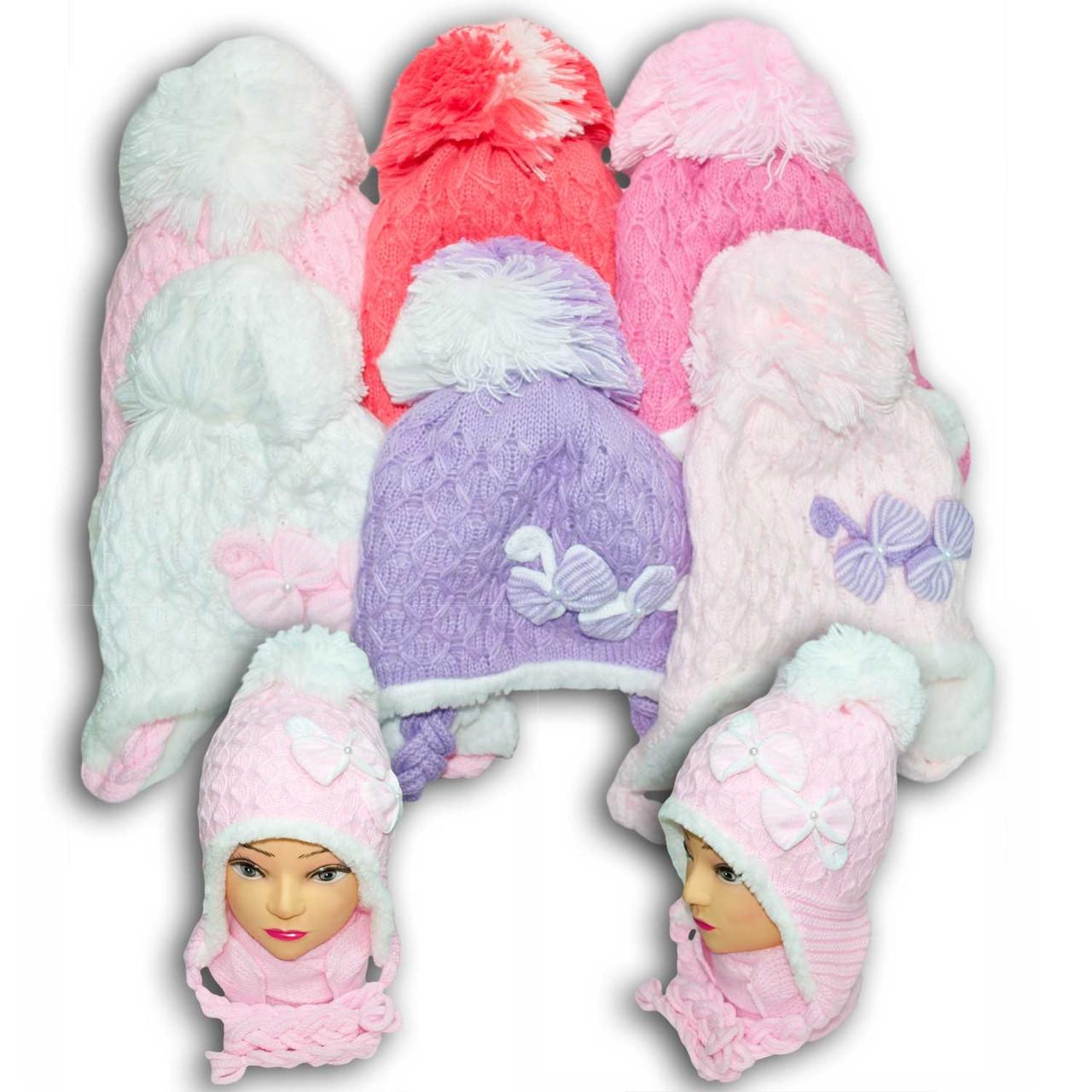 Комплект (шапка + шарф) для девочек, Польского производителя Toms, модель TS 15