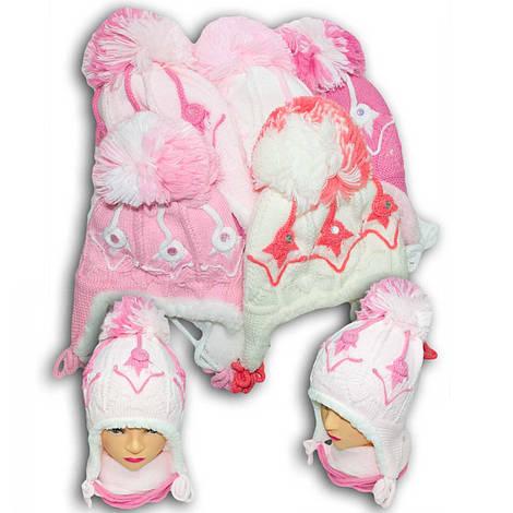 Комплект (шапка + шарф) для девочек, Польского производителя Toms, модель TS 16