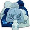 Шапка для девочек, Польского производителя Barbaras, подкладка флис, помпон акрил, модель WD60/AP