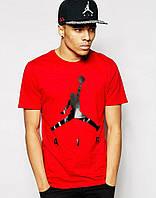 Модная мужская футболка красная Jordan