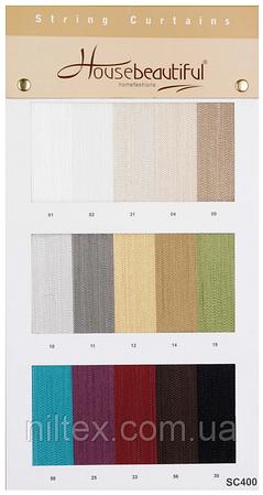 Нитяные однотонные шторы. Код: SC400 (300*300)