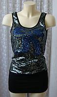 Платье женское туника нарядная модная блестящая мини бренд Angel Eye р.40-42 6381, фото 1