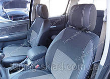 Чохли на сидіння Тойота Хайлюкс 2 (чохли з екошкіри Toyota Hilux 2 стиль Premium)