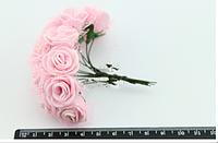 Розочки латексные мини с органзой ( 12 шт.), нежно-розовые
