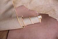 Натуральная кожа для кожгалантереи и одежды бежевого цвета арт. СК 2091