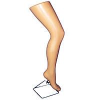 Манекен женская нога под чулок на подставке телесного цвета