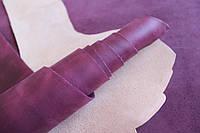 """Натуральная кожа """"Крейзи Хорс"""" для кожгалантереи и обуви фиолетовая, толщина 1.6 мм, арт. СК 2094, фото 1"""
