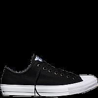 Кеды Converse All Star II Low Chuck Taylor Lunarlon черно-белого цвета (конверсы) весна/лето
