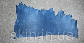 """Натуральная кожа """"Крейзи Хорс"""" для кожгалантереи и обуви голубого цвета, толщина 1.5 мм, арт. СК 2096, фото 2"""
