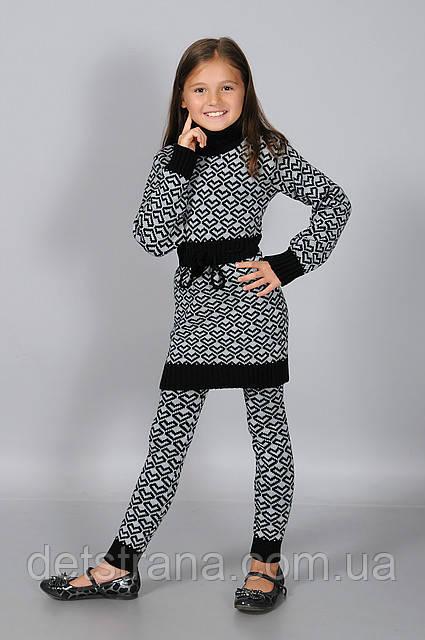 Детская вязанная туника для девочки