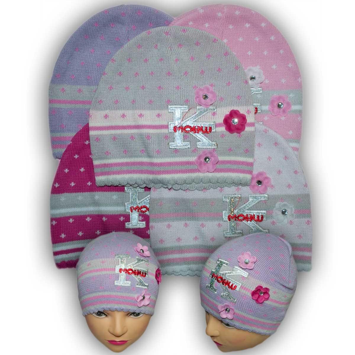 Шапочка вязаная для девочек, производитель Польша, модель W 15