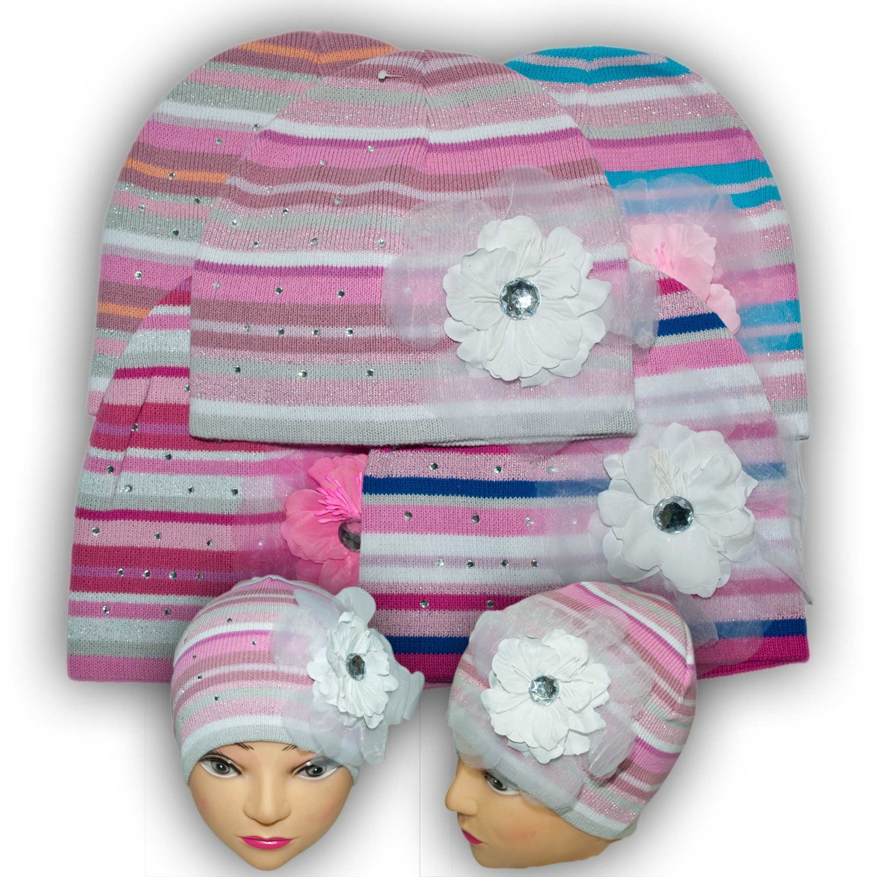 Шапочка вязаная для девочек, производитель Польша, модель W 27
