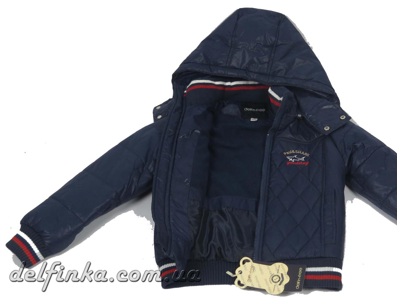 Куртка, для мальчика, теплая, на флисе, 1-4 лет цвет синий, фото 3