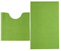 Набор ковриков в ванную комнату зеленые 48х80/48х48 см